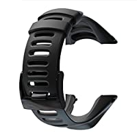 SUUNTO ラバー ベルト スント 腕時計 バンド ストラップ AMBIT1 AMBIT2 AMBIT3 対応 (ブラック)
