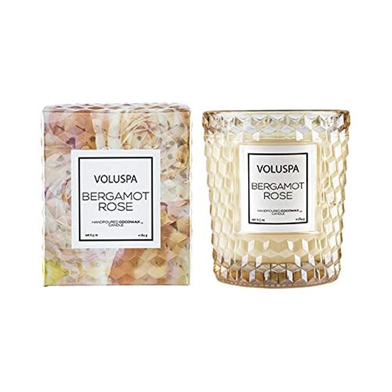 抱擁グラマー小麦粉VOLUSPA ROSES クラシックグラスキャンドル ベルガモットローズ BERGAMOT ROSE ボルスパ ローズ