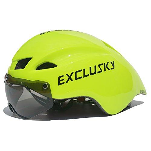 [해외]Exclusky Cicada 초경량 자전거 헬멧 남녀 겸용 일체형 레이싱 헬멧 자전거 헬멧 사이즈 55-62cm/Exclusky Cicada Super Lightweight Bicycle Helmet Unisex Single Molding Racing Helmet Road Bike Helmet Size 55 - 62 cm
