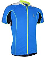 Arsuxeo自転車夏用 通気性 スポーツウェア サイクルジャケット スポーツジャージ フルジッパー 速乾性 吸汗性 高弾性メンズ対応