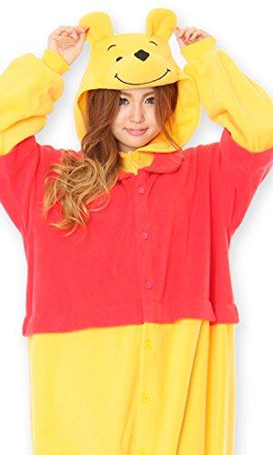 ディズニー くまのプーさん 着ぐるみ コスチューム 男女共用 フリーサイズ フリース kti-137