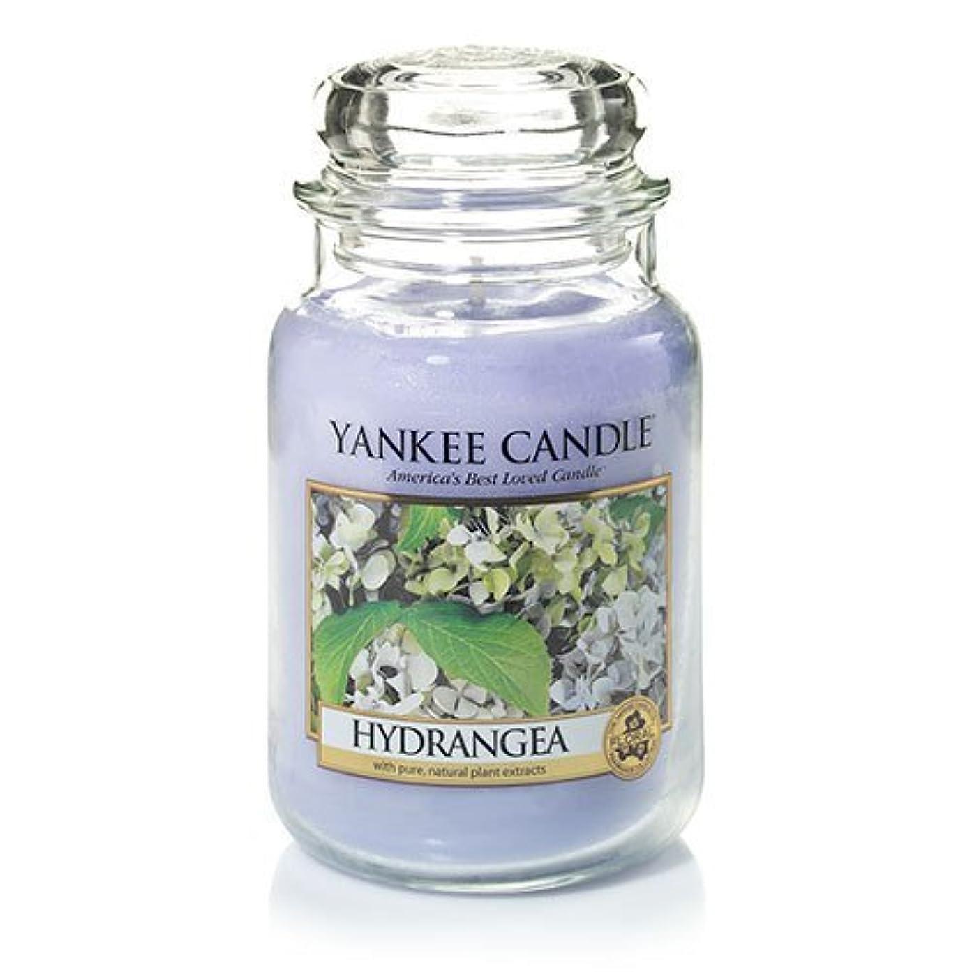あいさつ宙返り画家Yankee Candle Hydrangea Large Jar Candle、新鮮な香り