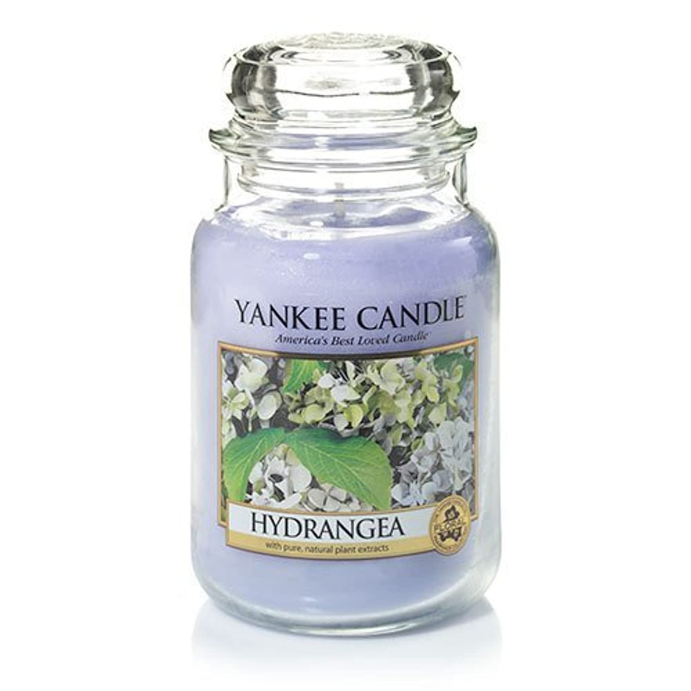 三角投げるファームYankee Candle Hydrangea Large Jar Candle、新鮮な香り