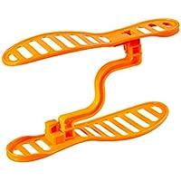 OUNONA 靴ラックオーガナイザー 調節可能 省スペースストレージ プラスチック(オレンジ)