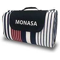 【MONASA】レジャーシート 4-6人用 200×200 厚手 防水 大判 軽量 簡単 折り畳み 持ち手つき