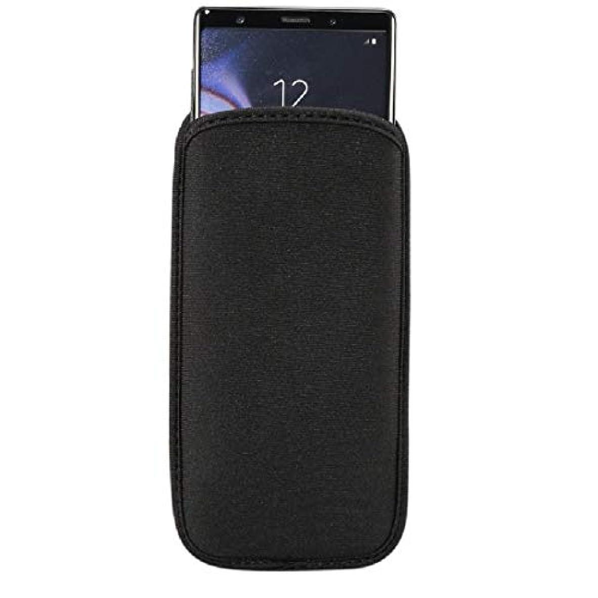 スクランブルミニチュアスペインDFV mobile - 防水性と耐衝撃性のネオプレンソックスカバー 端末対応Asus Zenfone Go ZB551KL - 黒