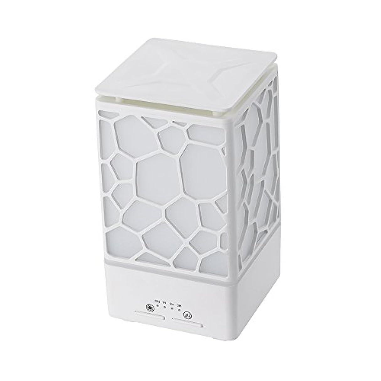 インフラ加害者計器200ミリリットルアロマオイルディフューザー、3つの作業モードでウッドグレインアロマオイルディフューザーウォーターレスオートオフ7色ledライト,White