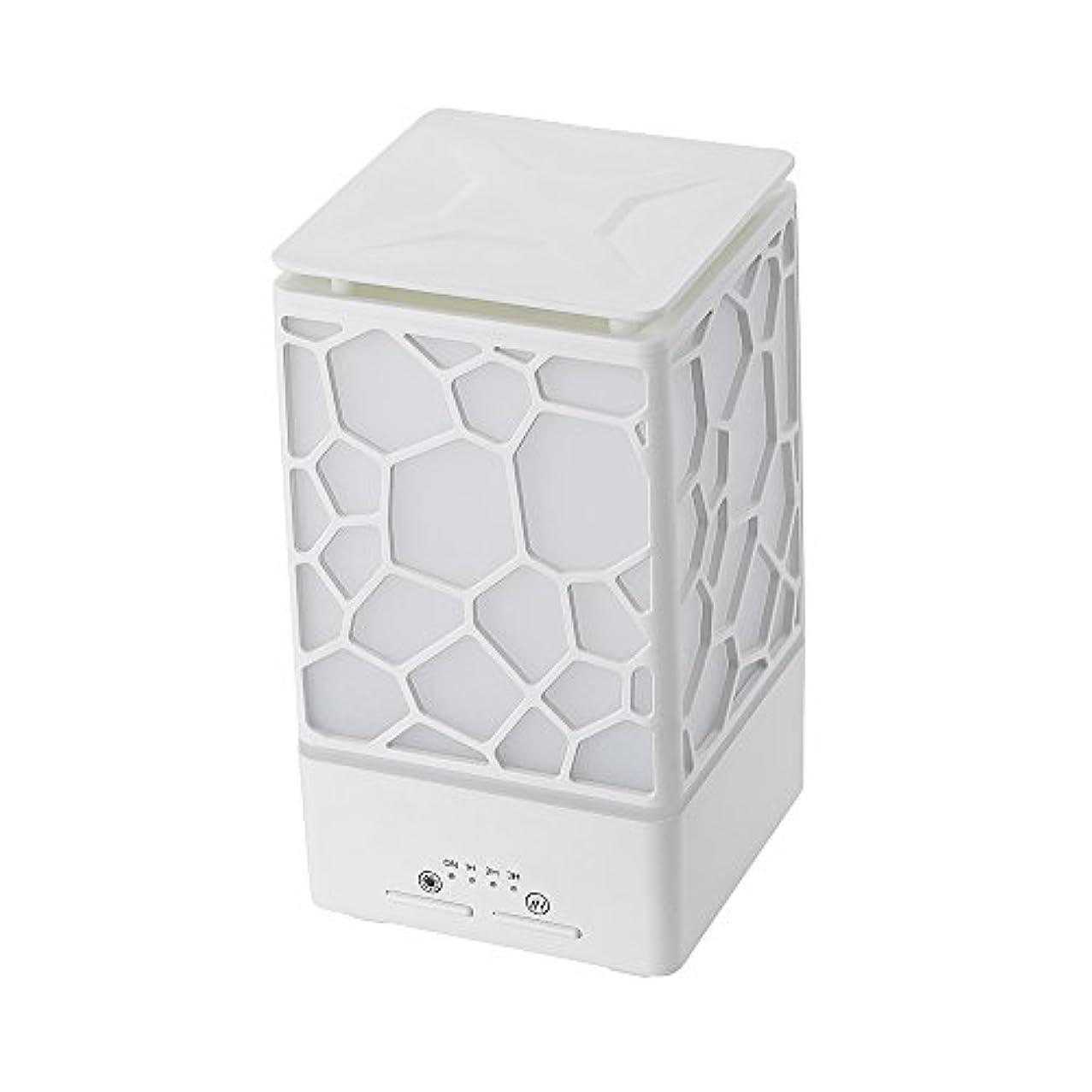 アームストロング悪名高いパリティ200ミリリットルアロマオイルディフューザー、3つの作業モードでウッドグレインアロマオイルディフューザーウォーターレスオートオフ7色ledライト,White