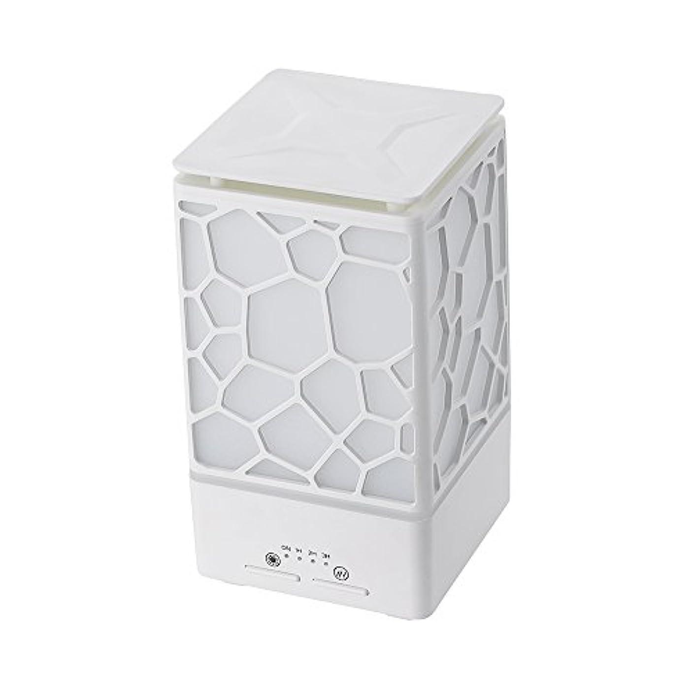 メトリックコンチネンタル原理200ミリリットルアロマオイルディフューザー、3つの作業モードでウッドグレインアロマオイルディフューザーウォーターレスオートオフ7色ledライト,White