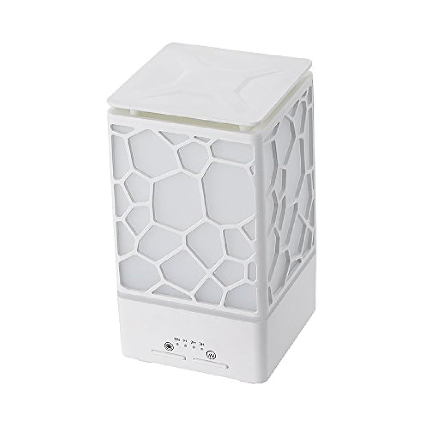 特性ゴージャス隣人200ミリリットルアロマオイルディフューザー、3つの作業モードでウッドグレインアロマオイルディフューザーウォーターレスオートオフ7色ledライト,White