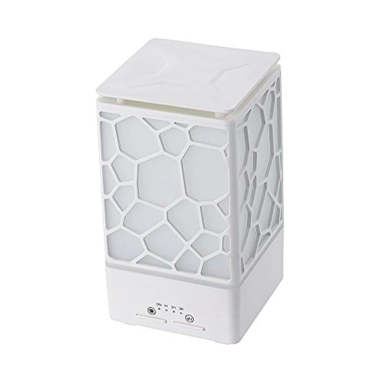 倍率半導体弱点200ミリリットルアロマオイルディフューザー、3つの作業モードでウッドグレインアロマオイルディフューザーウォーターレスオートオフ7色ledライト,White