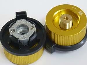 【ノーブランド】OD缶 から CB缶 カセットボンベ(CB缶)でアウトドアガス機器が使用可能 ガスアダプター アウトドア キャンプ バーベキュー