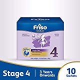 FRISO Gold Stage 4 Growing-up Milk Formula, 3 years onwards, Sachet Box, 10 X 45g