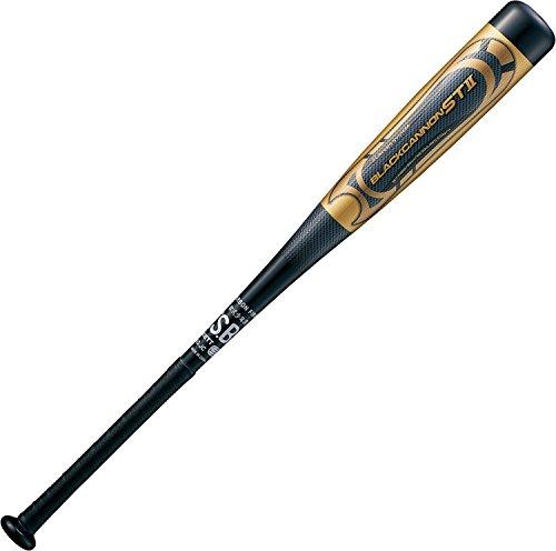 ZETT(ゼット) 少年野球 軟式 バット FRP (カーボン製) ブラックキャノンST2 80cm ブラック(1900) BCT71880