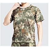 【ノーブランド品】タクティカルTシャツ | 迷彩Tシャツ | サバゲーTシャツ|color:マンドレイクタイプ size:L