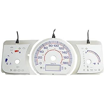 ファクトリーダイレクト ELメーターパネル EL-TO04WH ホワイトパネル HIACE200 ハイエース200系 1-3型 DX用(H16-H25.11)Toyota トヨタ EL スピードメーター パネル レーシングダッシュ製