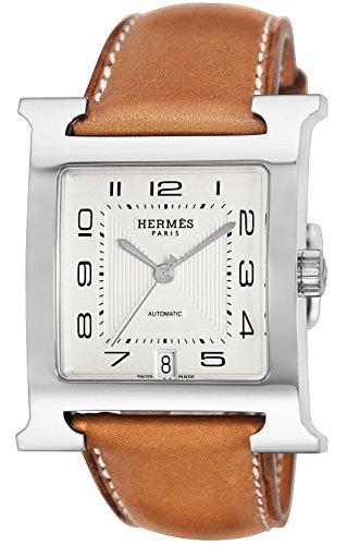 [エルメス]HERMES 腕時計 Hウォッチ シルバー文字盤 カーフ革ベルト 自動巻 HH2.810.220.VBA3 メンズ 【並行輸入品】