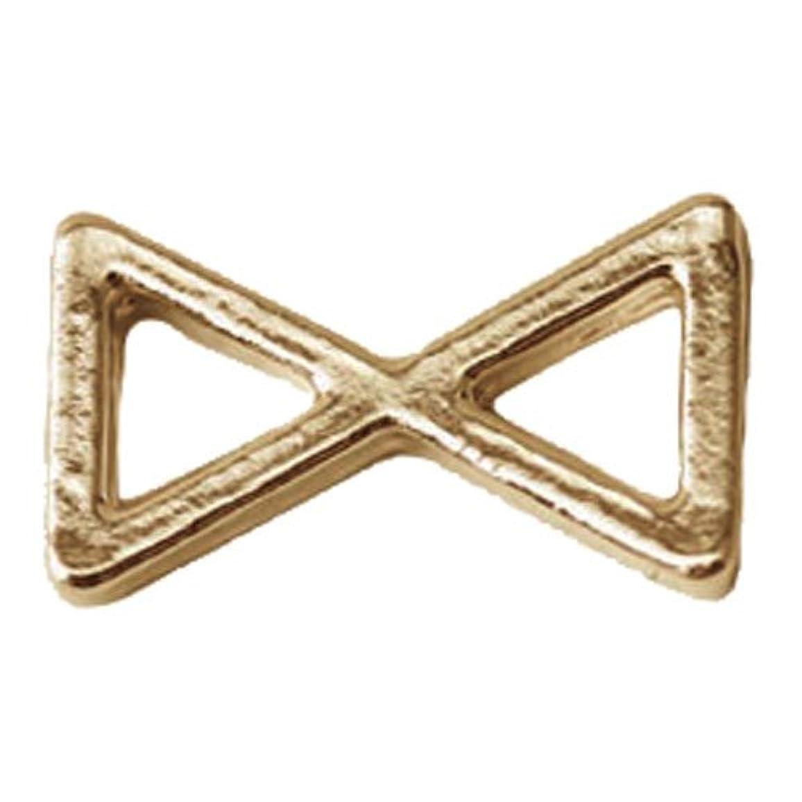 ほのめかすボウルラベルプリティーネイル ネイルアートパーツ プレーンリボンL ゴールド 10個