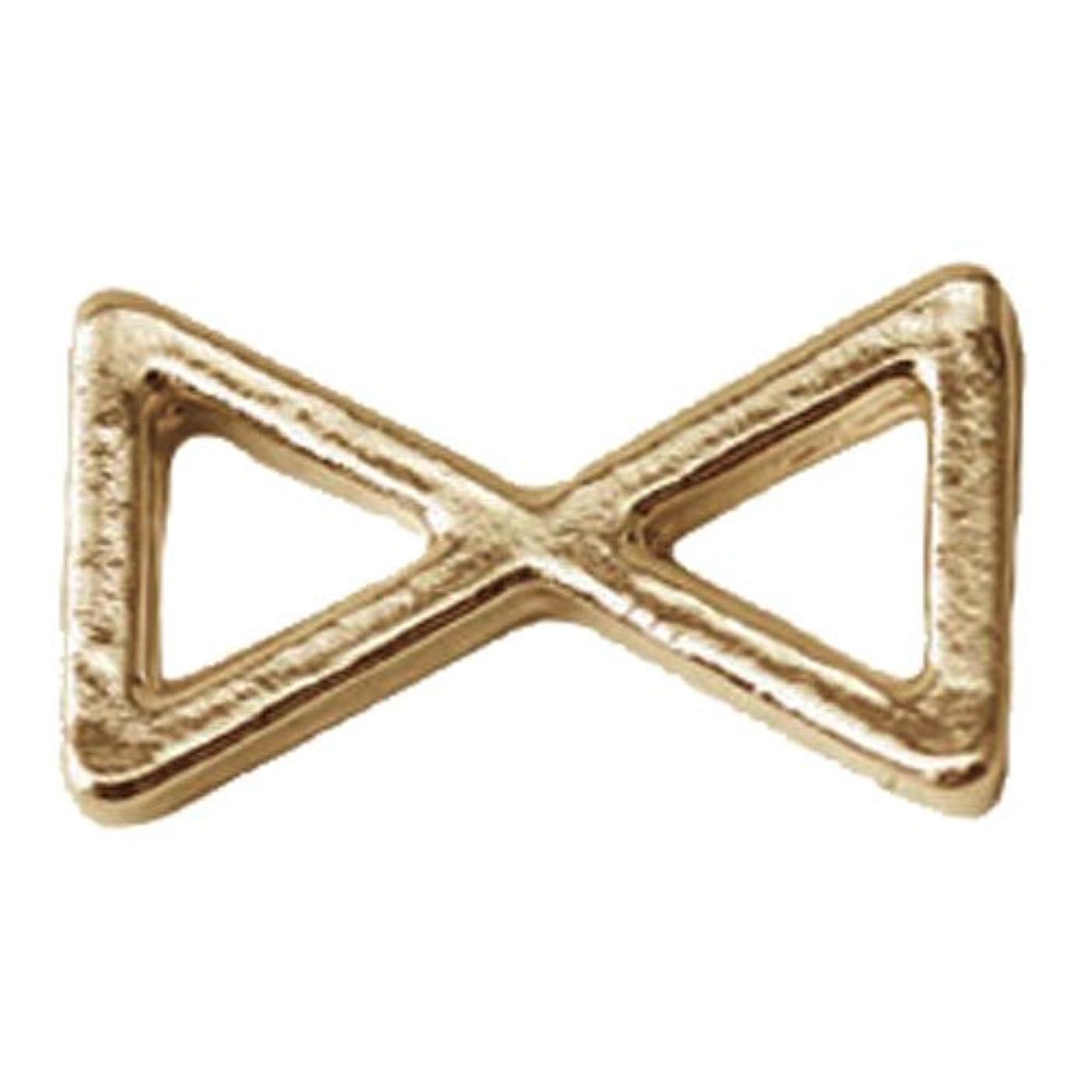 統合する幸運なことに報酬プリティーネイル ネイルアートパーツ プレーンリボンL ゴールド 10個