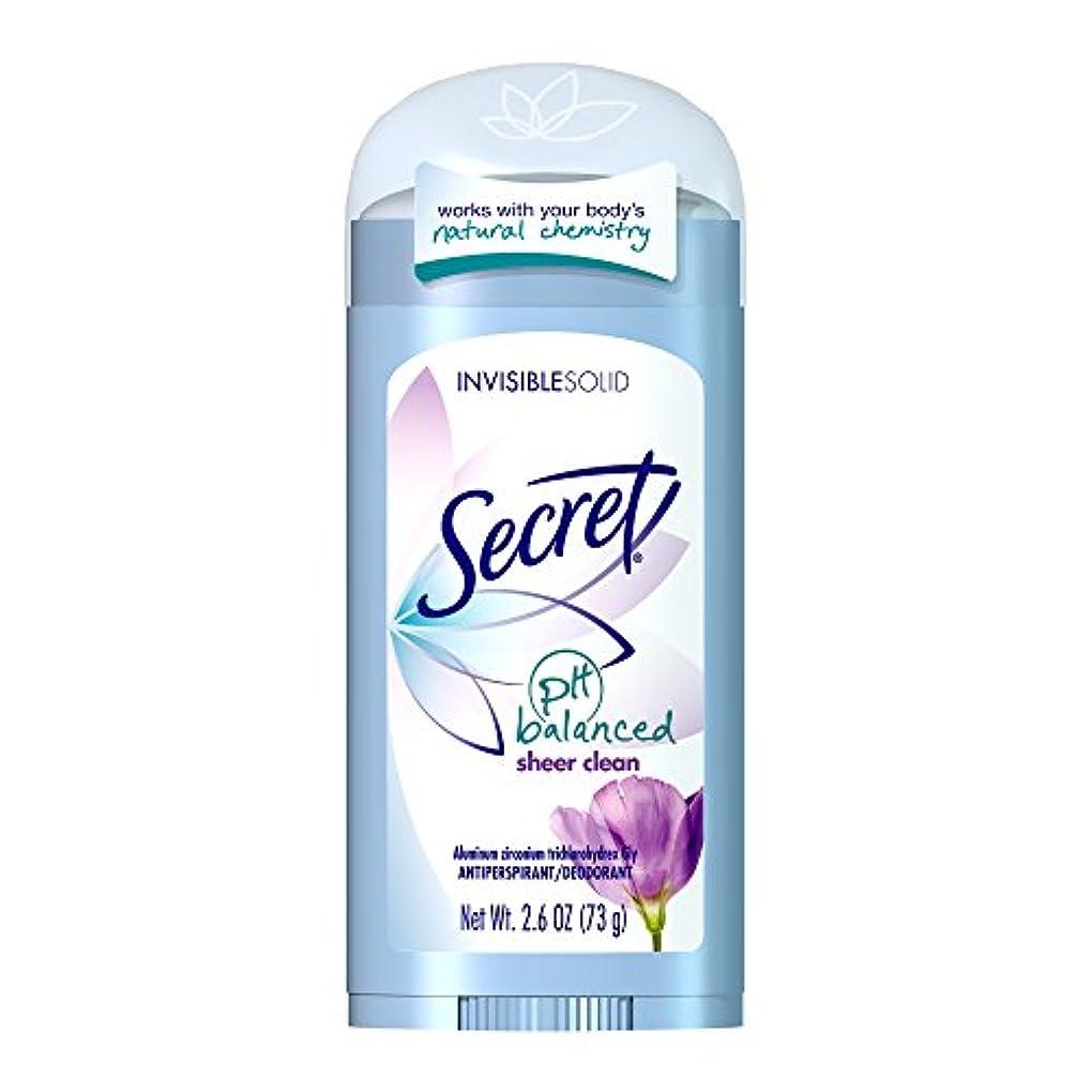 無し支給気配りのあるSecret Original Strength Antiperspirant and Deodorant Invisible Solid, Sheer Clean, 2.6 Oz (並行輸入品)