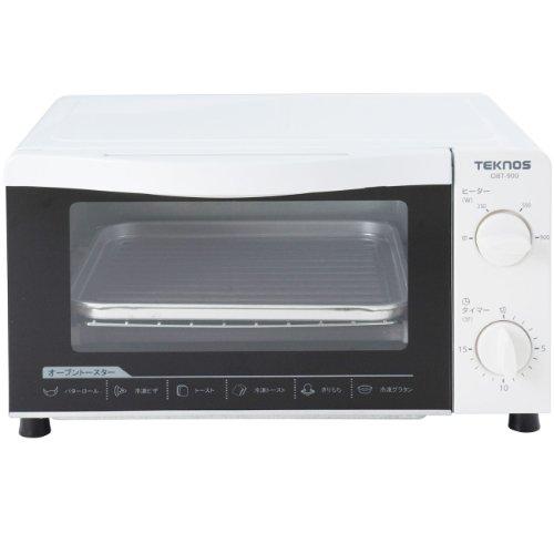 TEKNOS オーブントースター(900W) タイマー・温度調節機能付き OBT-900