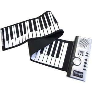 ロールアップキーボード ACアダプター付属!超薄型軽量 49鍵盤 ロール 電子ピアノ ハンドロール ピアノ コンパクトに巻いて収納も簡単!DLAP-018