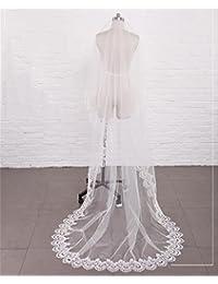 シュウクラブ- 美しい現代の花嫁のベールの頭飾り韓国はRuanshaシンプルな結婚式のベール末尾のアクセサリー床の長さの糸と結婚しました