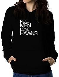 Real men love Hawk 女性 フーディー