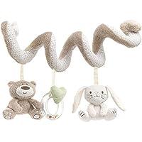 Babynice ベビーカーベビーベッドようおもちゃ ぬいぐるみ 渦巻き ぶら下げ 音が出る かわいい動物 0〜1歳