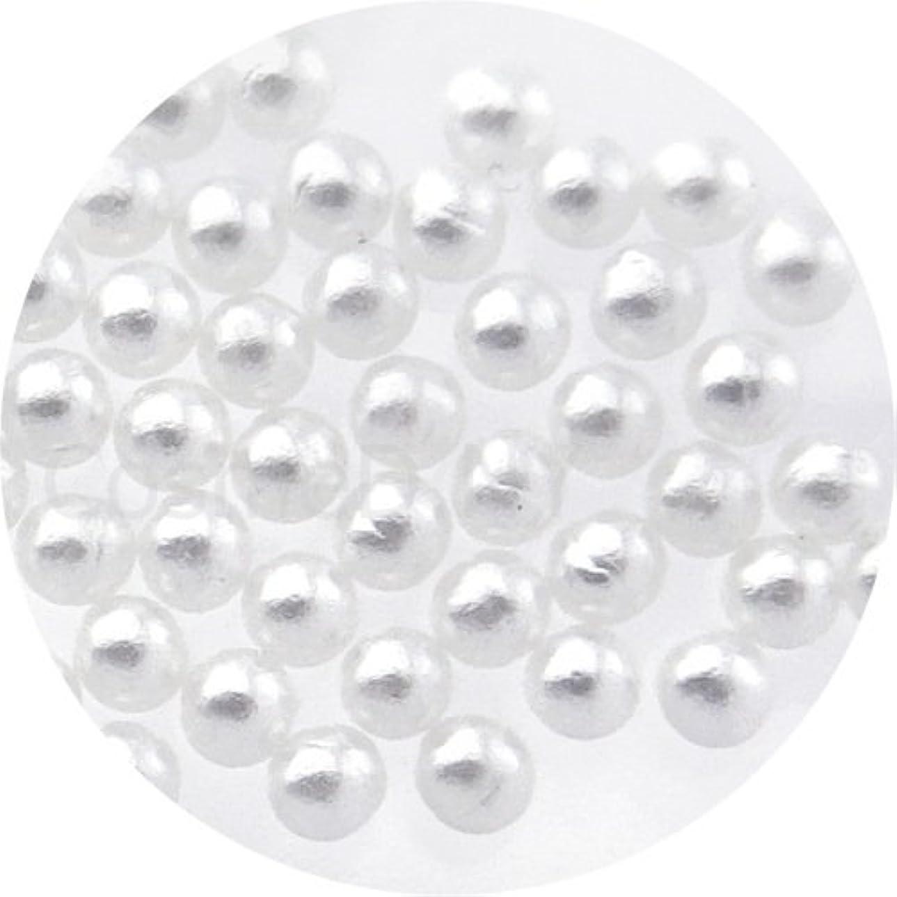 つぶすうまくいけば持続的nailgarden パールストーン球 2.0mm ホワイト