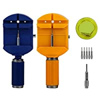 (Yellow) - New Trend Watch Band Strap Link Remover Repair Tool + 5 EXTRA PINS (Yellow)