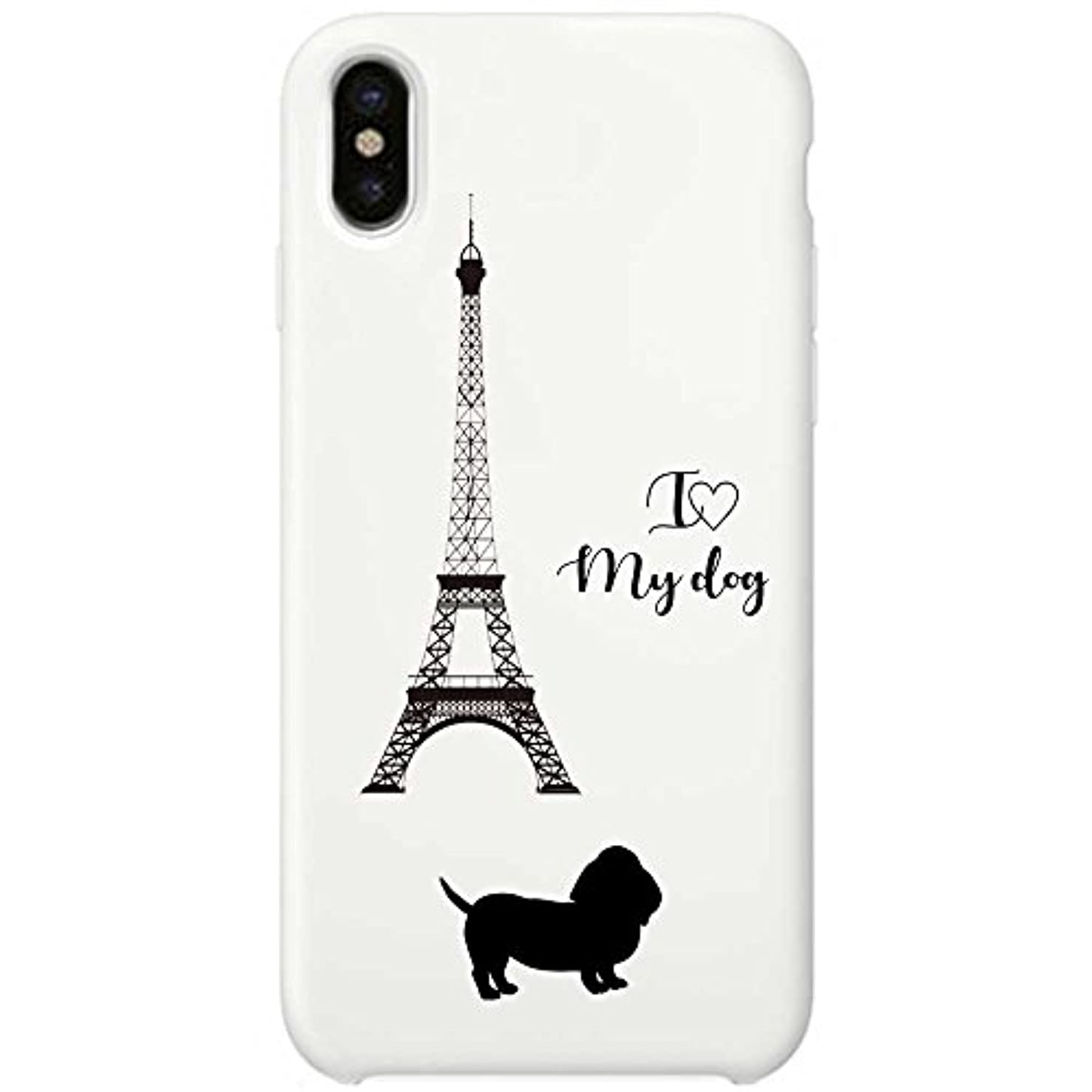 床地理キャンプiPhone X ソフトケース TPU ホワイト Dog in Paris バセットハウンド 888-72816