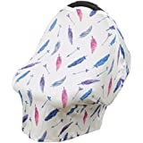 MagiDeal Baby Canopy Car Seat Nursing Breastfeeding Shopping Cart Stroller Covers - Colorful Feathers, as described
