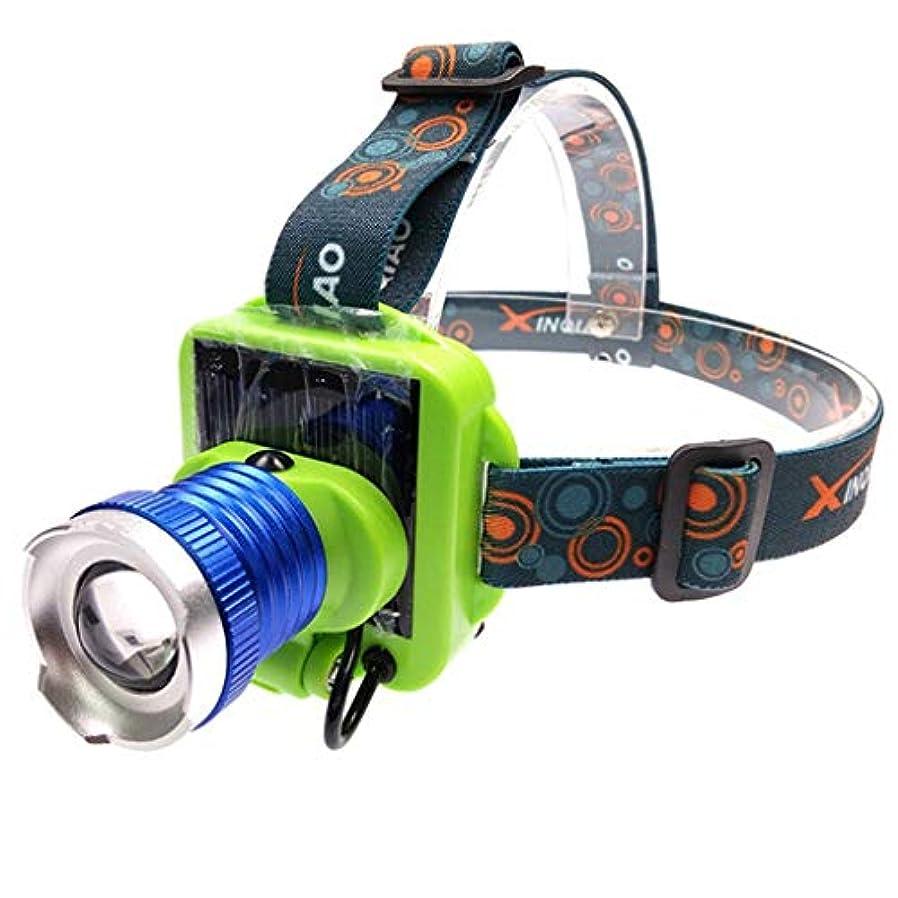実験外観高価な3モードLED屋外キャンプソーラーパワーランプを照明ヘッドライト充電式USBヘッドトーチ