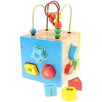 KESOTO カラフル 子供 赤ちゃん用 はめこみ ブロック クリエイティブボックス ビーズ迷路 おもちゃ