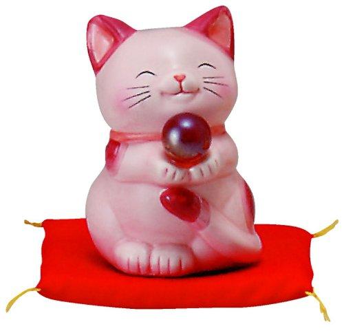 開運 「結婚・愛情・家庭運向上」 ハッピーキャット 小 ピンク SAN600