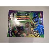 Teenage Mutant Ninga Turtles 塗り絵アクティビティブック クレヨンとステッカー付き 2個パック