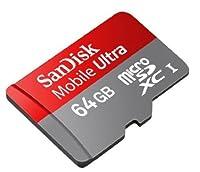 プロフェッショナル超SanDisk 64GB microSDXCカードfor Blackberry q10スマートフォンが録音高速度、ロスレスのフォーマットのカスタムは標準SDアダプタ。( UHS - 1クラス10認定30MB /秒)