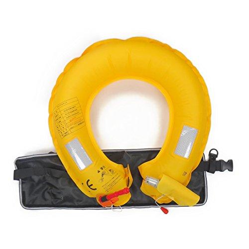 PFD ライフジャケット 救命胴衣 自動膨張式 ベルトタイプ CE認証品 男女兼用 フリーサイズ … (グレー迷彩)