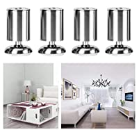 金属製ソファサポートフットX4、ステンレス製家具キャビネットフット、ベッドフットバスルームキャビネットアクセサリー、錆/容量