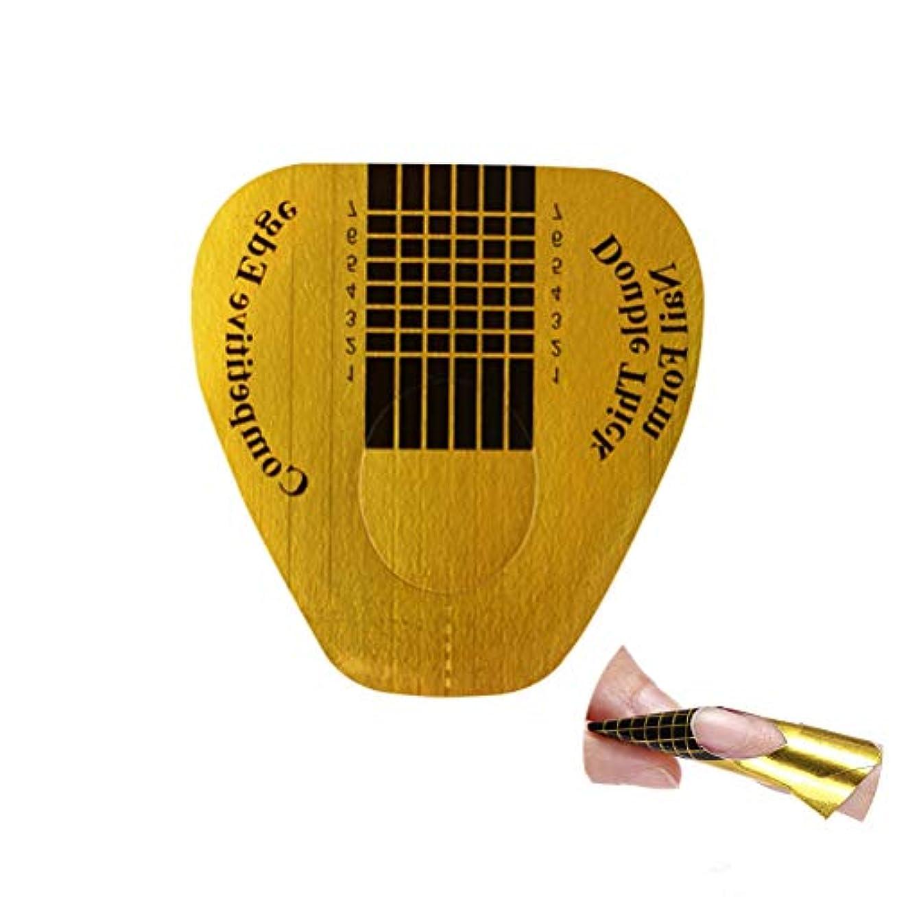 に肥料ボウリングBeaupretty アクリルUVジェルネイルのヒントマニキュアツール100ピースのためのフォームネイルアートガイドステッカー
