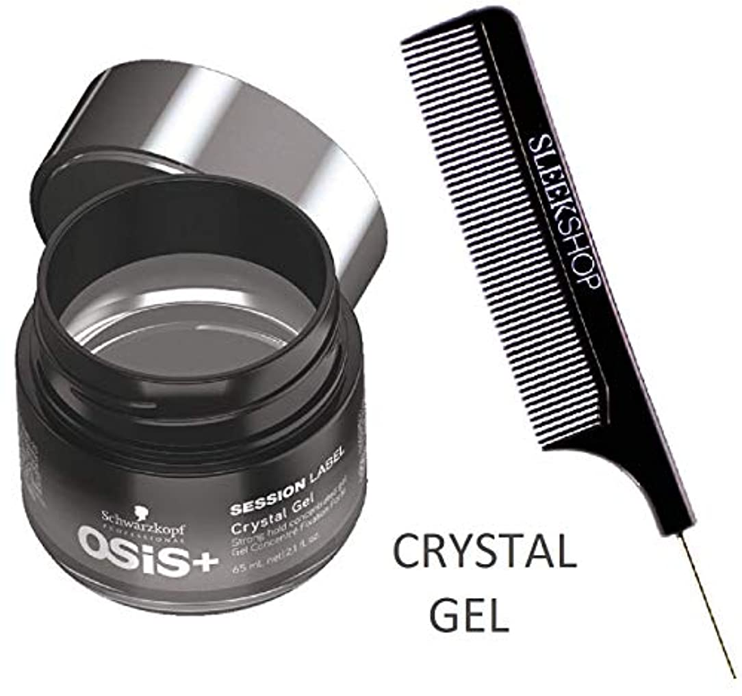 構造糸はいSchwarzkopf OSIS +セッションラベルCRYSTAL GELストロングホールド濃縮ジェル(STYLISTのKIT) 2.1オンス/ 65ミリリットル