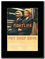 - Pet Shop Boys - Nightlife UK Tour Dates - つや消しマウントマガジンプロモーションアートワーク、ブラックマウント Matted Mounted Magazine Promotional Artwork on a Black Mount