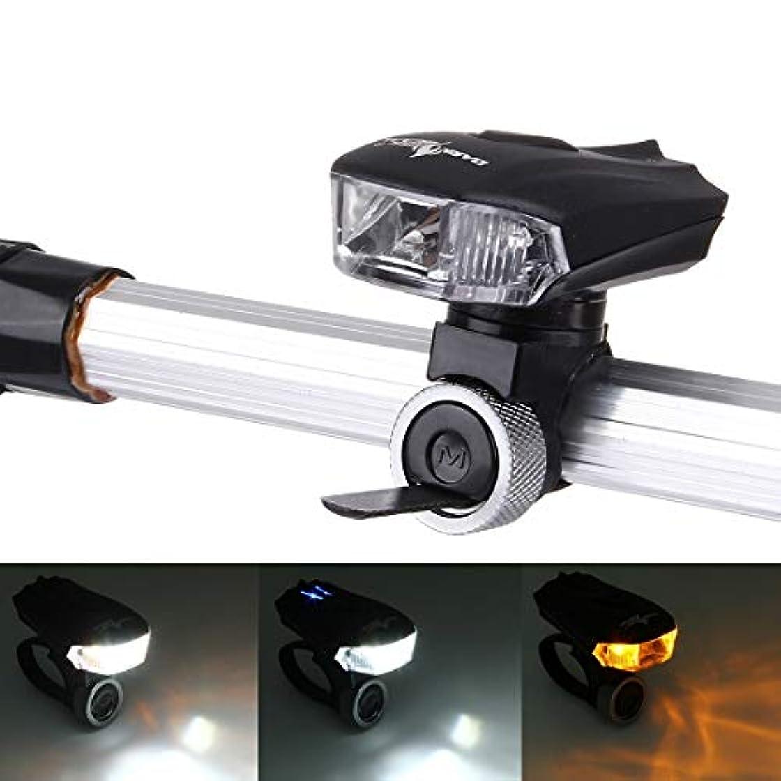 バット選択うまくやる()5モードイエロー&ホワイトライト防水USB充電式400LM COB LEDバイクテールライト,