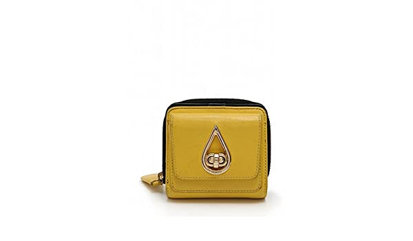 c7cfc79f500a Amazon.co.jp: (ケンゾー) KENZO 財布 二つ折り ラウンドファスナー ターンロック レザー 黄 黒 中古: 服&ファッション小物