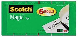 スコッチ メンディングテープ 19mm×25.4m 6巻パック 詰替え用 810K6