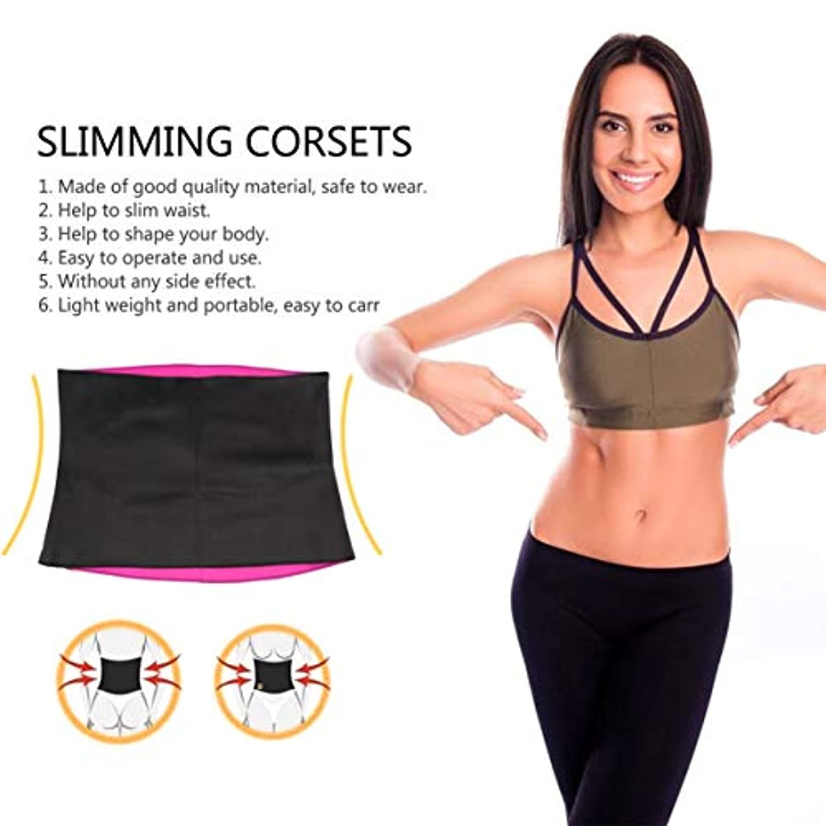鋸歯状知人くるみWomen Adult Solid Neoprene Healthy Slimming Weight Loss Waist Belts Body Shaper Slimming Trainer Trimmer Corsets
