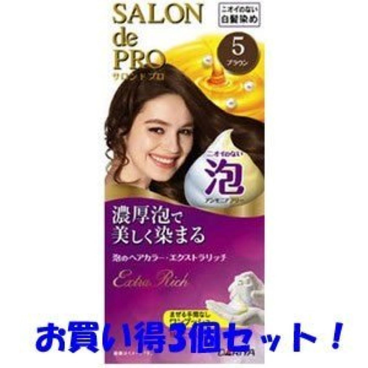 【ダリヤ】サロンドプロ 泡のヘアカラー?エクストラリッチ 5 ブラウン(医薬部外品)(お買い得3個セット)