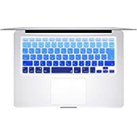 "Masino® Japanese Charactar Silicone Keyboard Cover Ultra Thin Keyboard Skin for Japan VERSION MacBook Air 13"" MacBook Pro with Retina Display 13""15"" 17"" DO NOT FITS FOR EUROPE US CHINESE VERSION Mac (1 pcs keyboard cover, Japanese Letter- Gradient Deep Blue)"