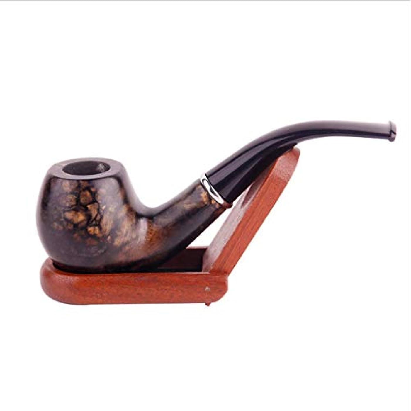 古典的な取り外し可能なタバコの喫煙パイプ取り外し可能な曲げ喫煙パイプポータブル純木喫煙パイプ付きダークパターン